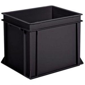 Bac 60l Recyclé Noir Lxlxh = 600x400 X325mm