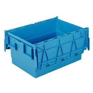 Bac de transport Integra bleu 55L - 600x400x300 mm,