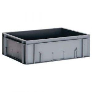 Bac 10L, parois pleines gris LxlxH = 40 0x300x120mm,