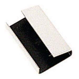 Cerclage plastique par 2000 -Chape métal semi-ouverte -12 mm,