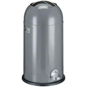 Poubelle métal gris à pédale 33L Wesco,