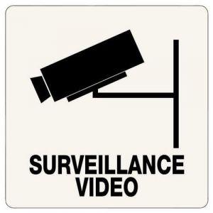 PANNEAU ADHESIF SURVEILLANCE VIDEO 100X100MM,