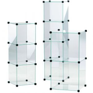 Vitrine en cubes Largeur:42,5 H:255,