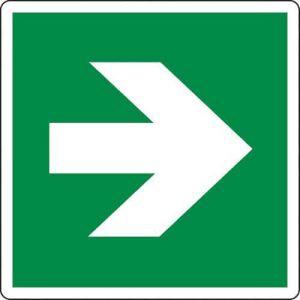 Panneau Flèche direction. vers la droite 200X200 - Adhésif,