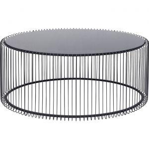 Table basse ovale Wire noire 60x90cm Kare Design
