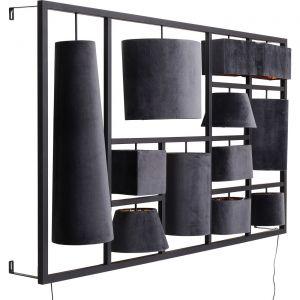 Applique Parecchi velours gris 110cm Kare Design