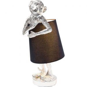 Lampe Animal Singe argentée et noire Kare Design