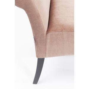 Banc Motley velours rose Kare Design