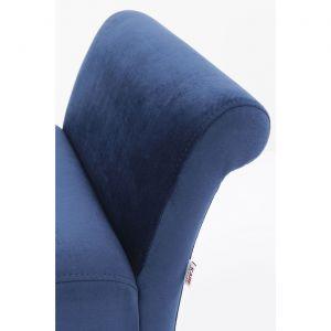Banc Motley velours bleu Kare Design