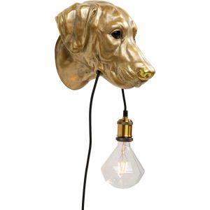 Applique murale chien doré Kare Design