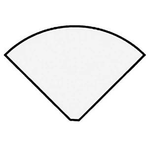 Angle de liaison 90° arrondi Axiome - Côtés 80 cm - Plateau Hêtre