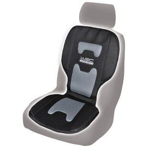 Couvre-siège noir et gris confortable WRC