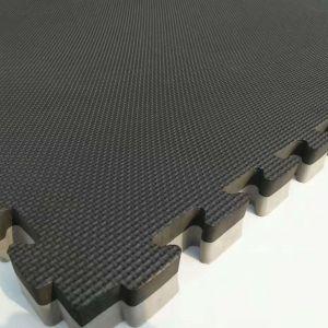 Dalle de sol mousse pour arts martiaux Geometrik Tatami `Noir + Gris` 40 mm