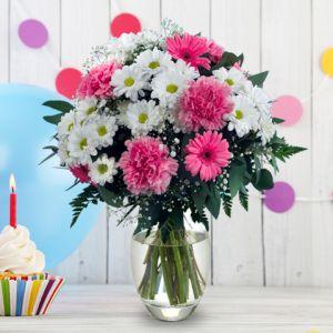 Aime-Moi: gerberas et chrysanthèmes