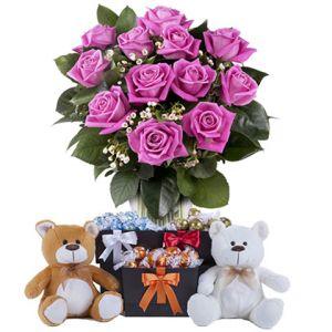 Roses, peluches et Lindt