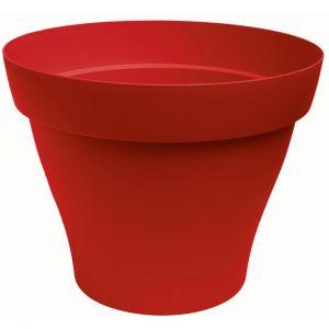 Pot rond POETIC Romeo 7 Rouge L.7,7xL.7,7xH.6cm