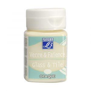 Peinture Lefranc & Bourgeois verre & faience opaque 50ml ivoire