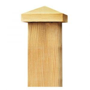 Capuchon pour poteau de bois de 7