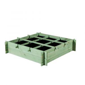 Carré potager PUR'GARDEN SAMOS vert pâle
