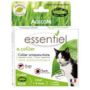 Collier antiparasitaire pour chat LABORATOIRE AGECOM Essentiel Coloris noir