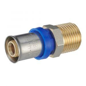 Raccord droit à sertir multiprofil NOYON ET THIEBAULT pour tube multicouche mâle15x21mm D.16mm