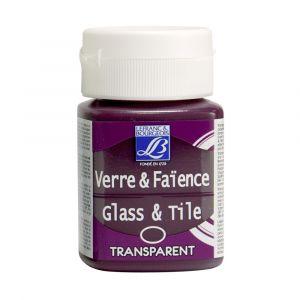 Peinture Lefranc & Bourgeois verre & faience transparent 50ml rose indien
