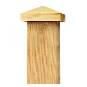 Capuchon pour poteau de bois de 9