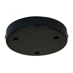 Plafonnier Cache Fil TIBELEC métal 3 câbles noir D.120mm