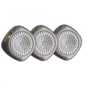 Lot de 3 Mini-Hublots LED TIBELEC Gris