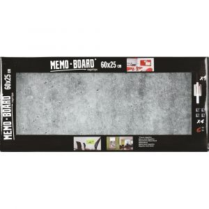 Mémo Board CEANOTHE Béton 25x60