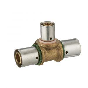 Té réduit à sertir TH NOYON ET THIEBAULT pour tube PER D.20mm 16/20mm