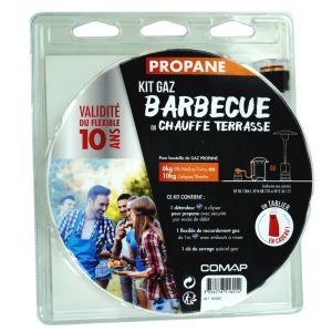 Kit Flexible pour Bouteille de Gaz Propane COMAP 6/10 kg Barbecue Chauffe Terrasse