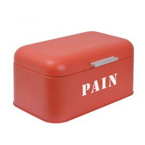 Boîte à Pain FRANDIS Rectangle Métal Rouge Mat