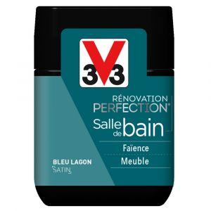 Testeur Peinture Rénovation V33 Salle de Bain Satin Bleu Lagon 75ml