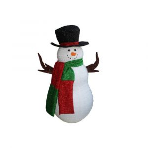 Décoration Bonhomme de Neige Noël Gonflable 95cm