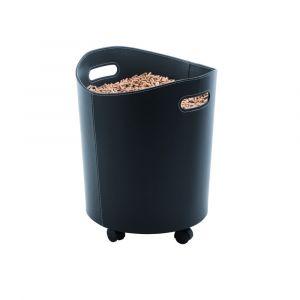 Rangement pour bois et pellets noir