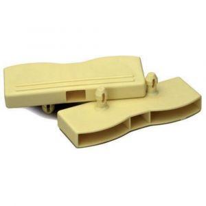 Lot de 2 Embouts Doubles SPTD 38mm pour Lattes de Sommier à emboîter