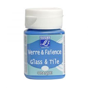 Peinture Lefranc & Bourgeois verre & faience opaque 50ml bleu azur