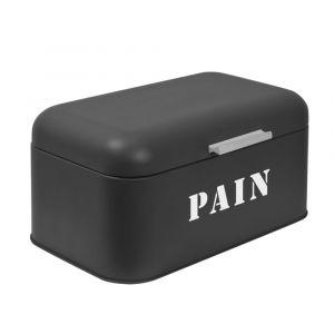 Boîte à Pain FRANDIS Rectangle Métal Noir Mat
