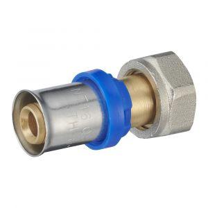 Raccord droit à sertir multiprofil NOYON ET THIEBAULT pour tube multicouche Femelle 15x21mm D.16mm
