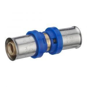 Jonction égale à sertir multiprofil NOYON ET THIEBAULT pour tube multicouche D.16mm