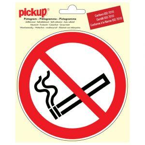 Picto Vinyle PICKUP Diam 15cm Interdit De Fumer