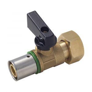 Mini-vanne pour sortie de collecteur NOYON ET THIEBAULT PER à sertir F15x21mm D.12mm