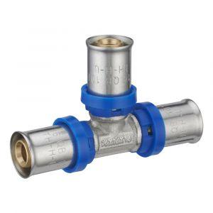 Té égal à sertir multiprofil NOYON ET THIEBAULT pour tube multicouche D.16mm