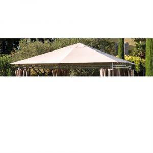 Toile de toit tonnelle PRADO 3 x 3m taupe