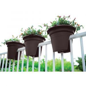 Pot de fleurs spécial balcon 30cm sable
