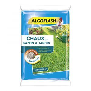 Chaux pour gazon et jardin ALGOFLASH 10 kg