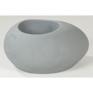 Pot de Fleurs Galet DEROMA Flow 280 Stony Grey 48x38x23cm