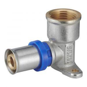 Coude applique à sertir multiprofil NOYON ET THIEBAULT pour tube multicouche F15x21mm D.16mm