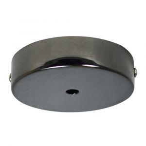 Pavillon Cache Fil TIBELEC métal noir perlé D.90mm